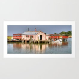 Bay Crabbers Shanty Art Print