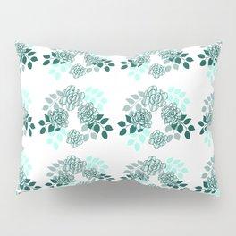 Mint Sampler Rose Pillow Sham