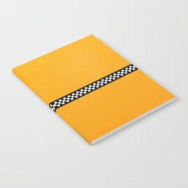 NY Taxi Cab Yellow with Black and White Check Band Notebook