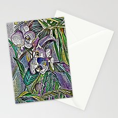 Engraved Orchids Stationery Cards