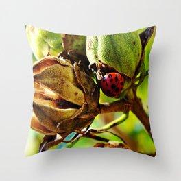 The Ant & Ladybug Throw Pillow