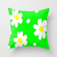 daisies Throw Pillows featuring Daisies by Vitta