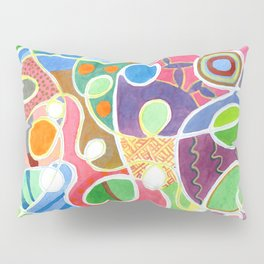 Jubilant Loops Pattern Pillow Sham