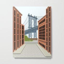Manhattan Bridge, DUMBO, Downtown Brooklyn, NYC Metal Print