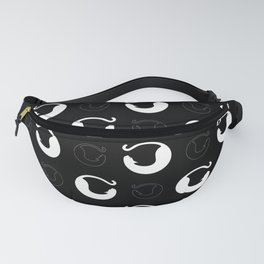 Simon The Happy Black Whine Cat Fanny Pack