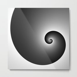 Swirly black Metal Print