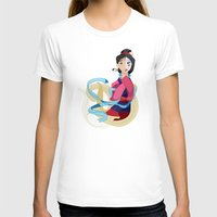 mulan T-shirts featuring Mulan: Reflection by Minette Wasserman