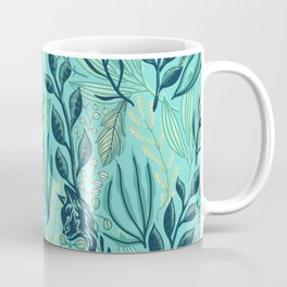 Cat Me Folhagem Coffee Mug