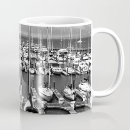 Docked b & w Coffee Mug