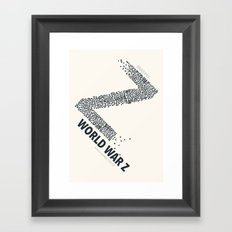 World War Z - minimal poster Framed Art Print