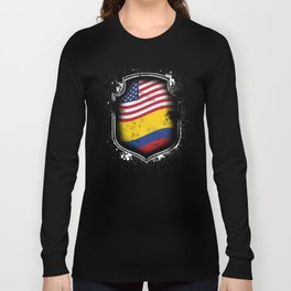 Colombian American Flag Long Sleeve T-shirt