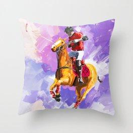 power of polo Throw Pillow