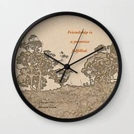 """""""Catalina Trees #2"""" with poem: Simple Friendship Wall Clock"""