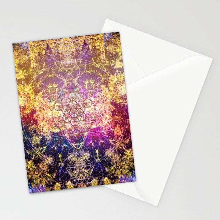 Fractalic Pineal Metatron | Foundant Dusa | Melting Soul Stationery Cards