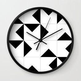 Abstract Spiral Triangles I Wall Clock