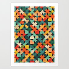 Lucky Clover Art Print