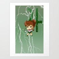sailor jupiter Art Prints featuring Sailor Jupiter by artwaste