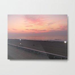 Sunrise Ocean City Metal Print