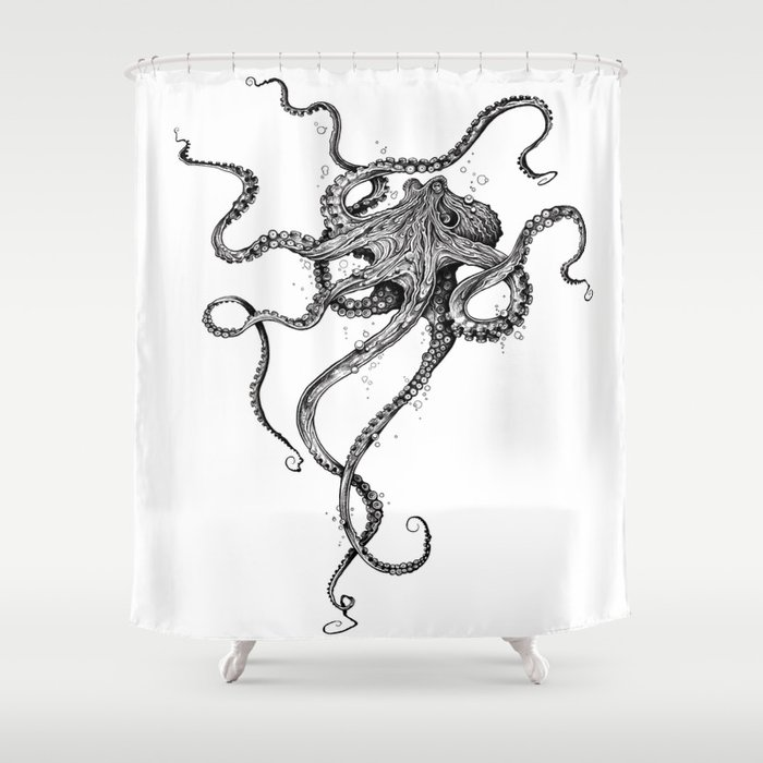 Octopus Shower Curtain by taojb