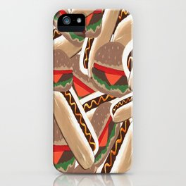 Hot Dogs And Hamburgers iPhone Case