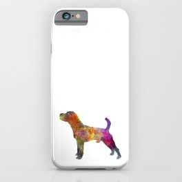 Jack Russell Terrier 01 in watercolor -3 iPhone Case