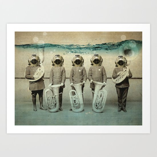 the diving bell Tuba quintet Art Print