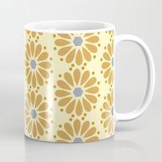 Golden floral on beige Mug