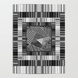Abstract pattern . Patchwork striped . Poster