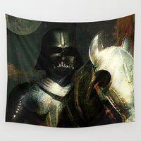 knight Wall Tapestries featuring Knight Vader  by Joe Ganech