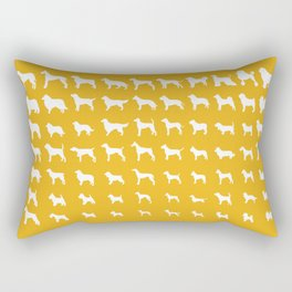 All Dogs (Gold) Rectangular Pillow