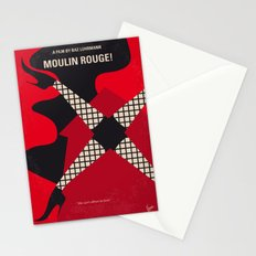 No713 My Moulin minimal movie poster Stationery Cards