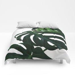 Monstera Leaf Print, Comforters