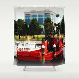 Little red tug Boat Shower Curtain