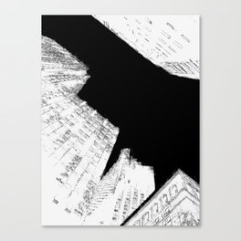 Drawing of Buildings in San Francisco Canvas Print