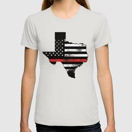 USA state texas map with integrated usa flag US T-shirt