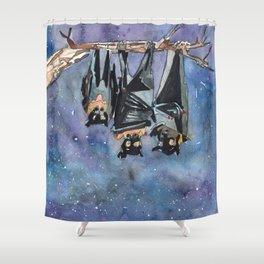 Bat Fam Shower Curtain