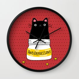 FUR ANTIDEPRESSANT Wall Clock
