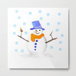 Snowman 01 Metal Print