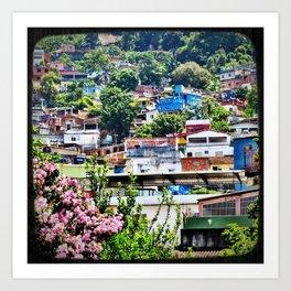 Favela Landscape Art Print