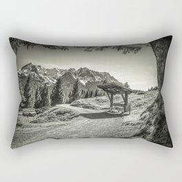 walking in the Alps Rectangular Pillow