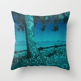 Nightime in Gissei Throw Pillow