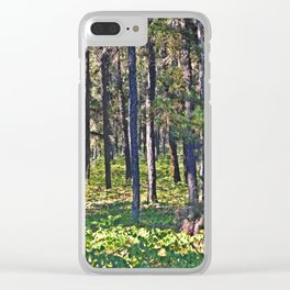 Torch River Forest Clear iPhone Case