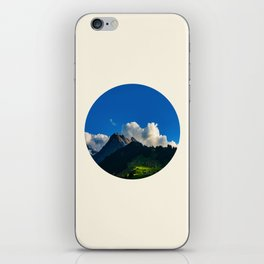 Green Mountain Valley Clouds & Blue Sky iPhone Skin