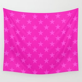 Pink stars pattern Wall Tapestry