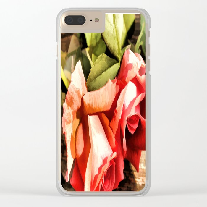 Timeless Tropicana Roses Clear iPhone Case