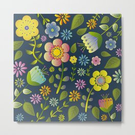 Petty Floral Pattern 1 Metal Print