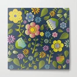 Petty Floral Pattern 1 Metal Print