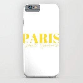 Paris Saint Germain Canary Yellow iPhone Case