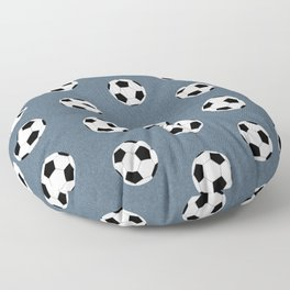 Soccer pattern great decor print for nursery boys or girls rooms sports theme Floor Pillow