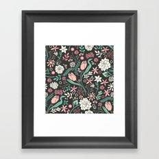 Tulip flowerbed Framed Art Print
